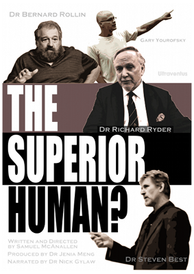 《The Superior Human?》(所谓高等的人类)英文海报