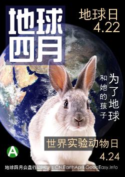 地球四月公益行动海报——为了地球 和她的孩子